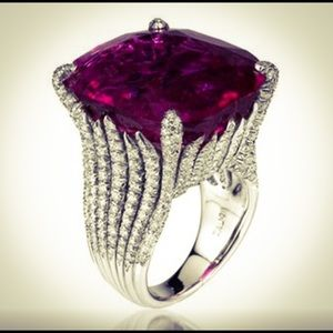 VBG Jewelry - BIG Beautiful Sterling Silver Natural Ruby Ring